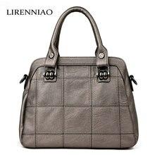 Lirenniao mode leder frauen handtaschen frühjahr weiblichen umhängetasche damen totes große marke ipad crossbody tasche