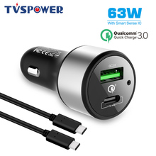 цена на USB Type C Adapter 12V3A 18W 45W PD Quick Charge 3.0 Fast Phone Car Charger For iPhone For Macbook Air Dell XPS XIAOMI Laptop