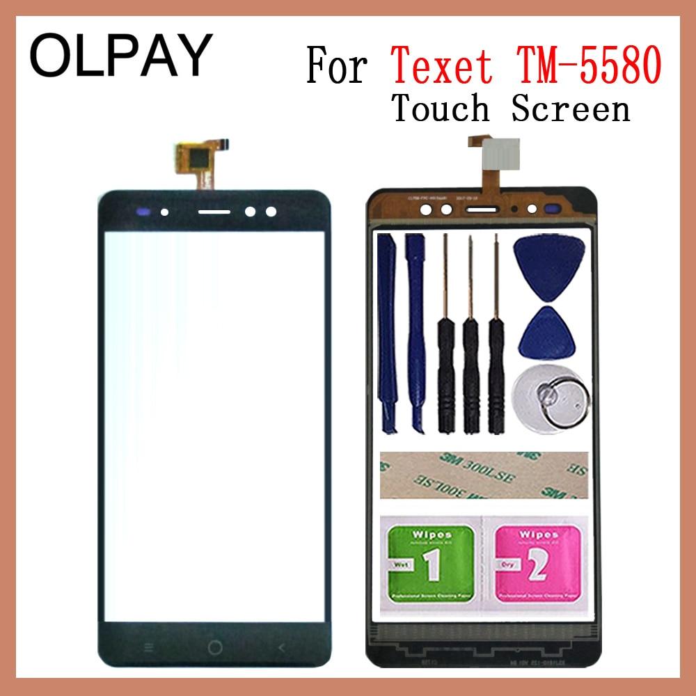 OLPAY 5.5'' New 100% Mobile Phone TouchScreen For Texet TM 5580 TM 5588 TM-5588 TM-5580 Touch Screen Digitizer Glass Lens