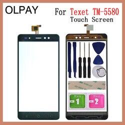 OLPAY 5.5 ''nowy 100% ekran dotykowy do telefonu dla Texet TM 5580 TM 5588 TM-5588 TM-5580 ekran dotykowy szkło Digitizer obiektyw