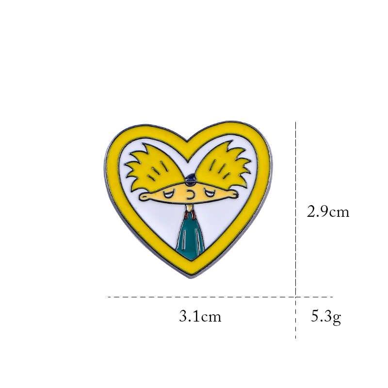 Милый мультфильм коллекция булавок Арнольд сердце платье брошь кактус джинсовые куртки лацкан Эмаль Булавка ювелирные изделия