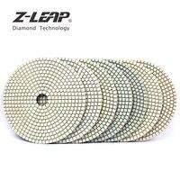 Z LEAP 7PCS 6 Inch Diamant Polieren Pad Nassen Für Beton Granit Marmor Stein Schleifen Disc 150mm Weiß Schleif disc 3mm Dicke-in Polierpads aus Werkzeug bei