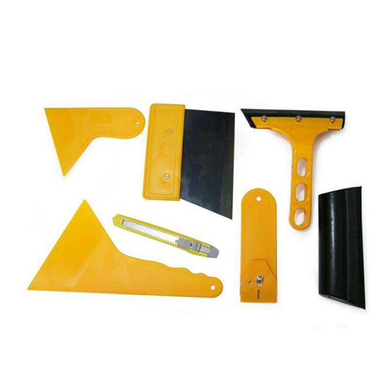 7 Pcs Car Tool Cutter Squeegee Tinting Tools Wrapping Rubber Scraper Set Car Soft Small Foil Film Scraper