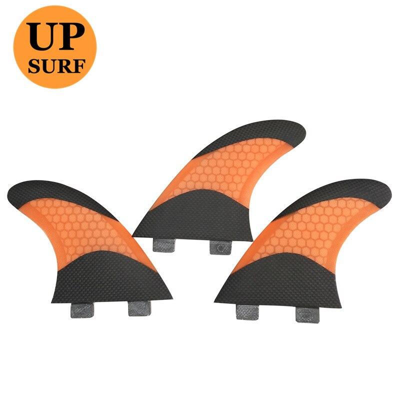 FCS G5/G7 Surf Ailettes Ailettes En Fiber de Verre Orange et Noir Honeycomb FCS Ailettes Planches de Surf Ailettes Pranchas de