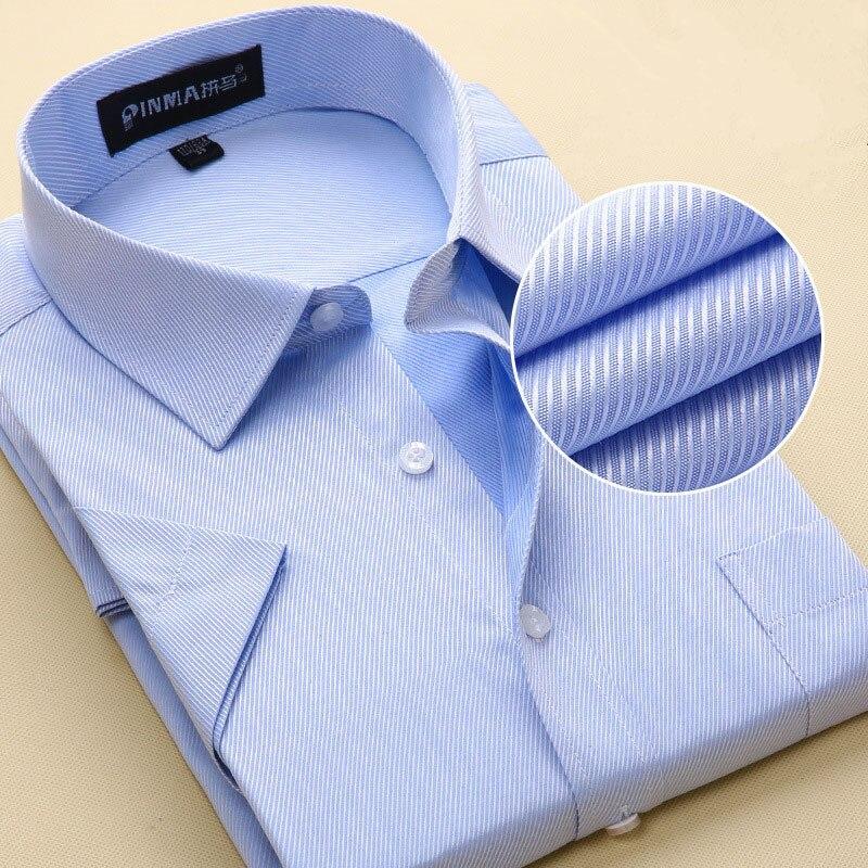 Рубашки для мальчиков Для мужчин новый Рубашка в полоску Для мужчин рубашка Марка Повседневное Camisas Masculina Slim Fit Для мужчин Бизнес Рубашки для...