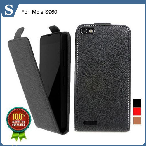 Factory price , Top quality new style flip PU leather case open up and down for  Mpie S960, gift