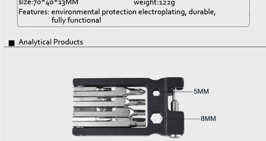 Bicycle Multifunction Repair Tool Set