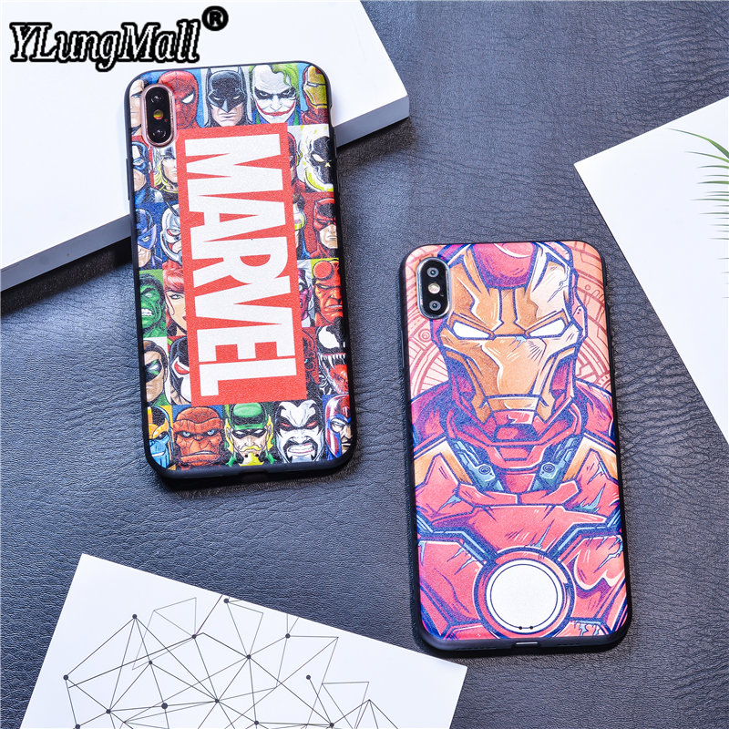 Cool Magnetic Silicone Case Coque for iPhone X Xs Max XR Case iPhone 7 6 6s 8 Plus Cases Soft Ironman Marvel Cover Case iphone xr case magnetic