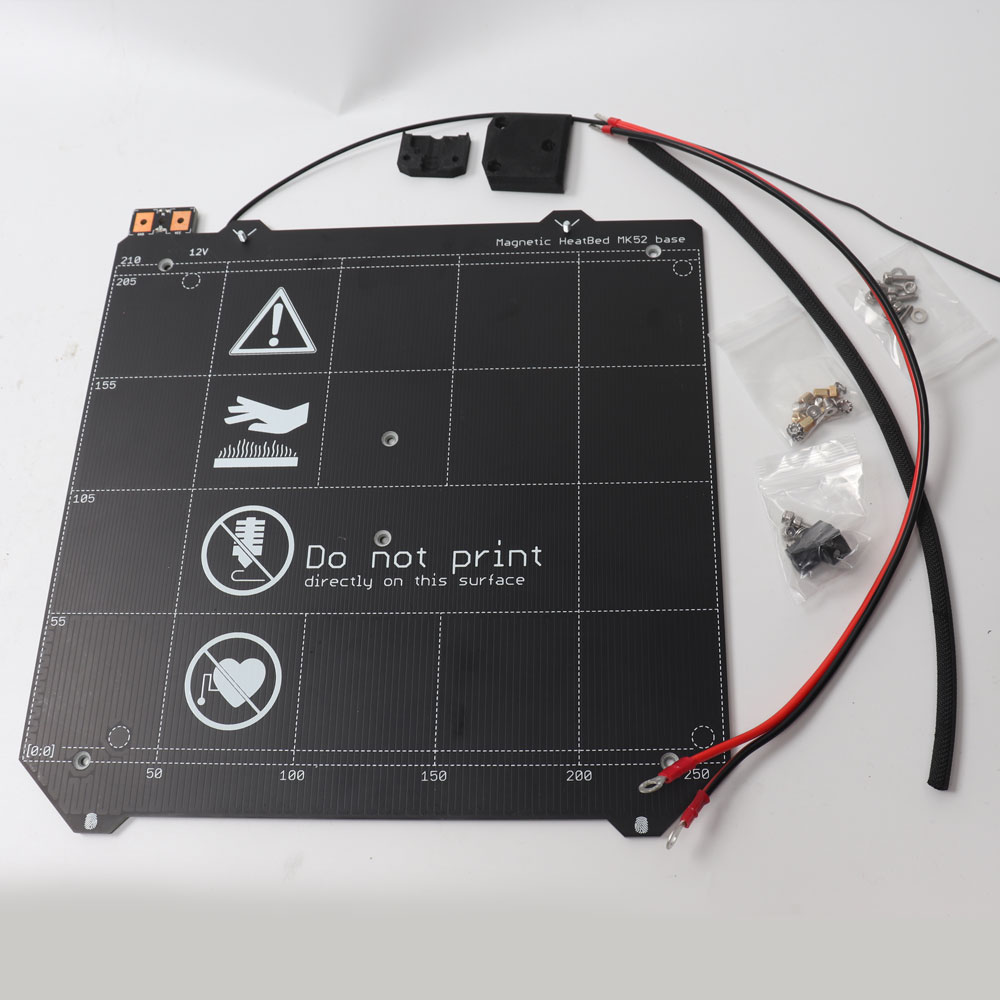 Prusa i3 MK2.5 imprimante 3d MK52 lit chauffant 12 V assemblé, aimants N35UH, câble d'alimentation, thermistance, manchon textile-in 3D Printer Parts & Accessories from Ordinateur et bureautique on AliExpress - 11.11_Double 11_Singles' Day 1