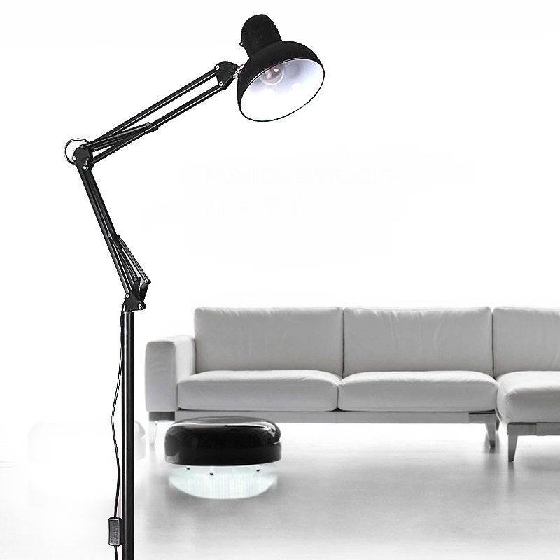 American Style Floor Lamps Modern Minimalist Study Bedroom Living Room Ideas Can Be Caught Black