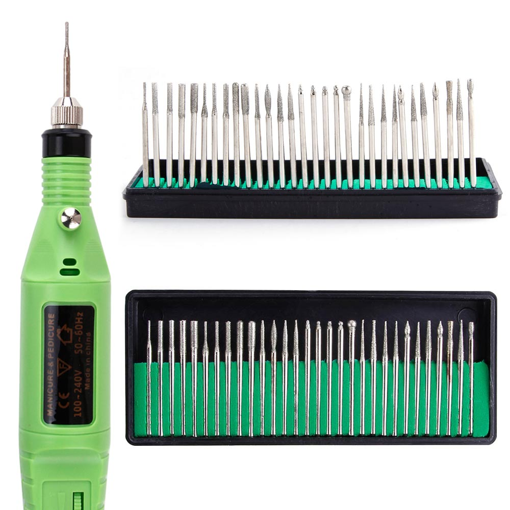 30Pcs Professional Electric Manicure Drill Bit Set Kit Alloy Grinding Head Art Machine Accessories Nail Pedicure Tools