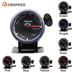 """Image 1 - CNSPEED Medidor de relación de combustible y aire para coche, 7 colores, 2,5 """", 60mm, con soporte LED"""