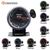 """CNSPEED Shark pin 7 Colors 2.5""""60mm Auto Air Fuel Ratio Gauge Car Air Fuel Ratio Meter Black Face Car Meter LED With Holder"""