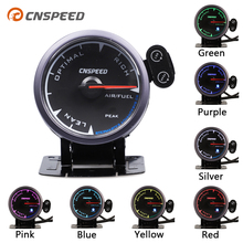 CNSPEED Shark pin 7 Colors 2.5 60mm Auto Air Fuel Ratio Gauge Car Meter Black Face LED With Holder