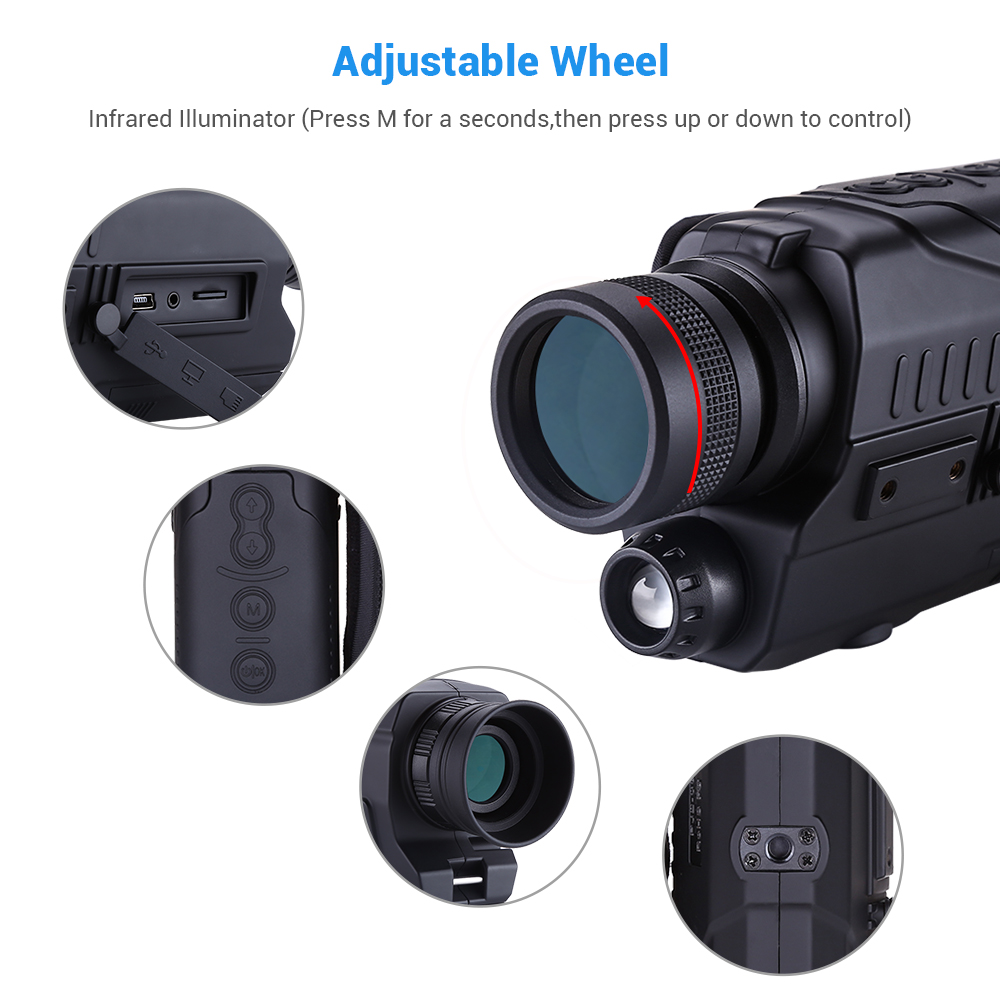 Image 3 - BOBLOV PJ2 5x32 Digital Infrared Night Vision Goggle Monocular 200m Range Free 16GB DVR for Hunting Telescope Military Tactical-in Night Visions from Sports & Entertainment