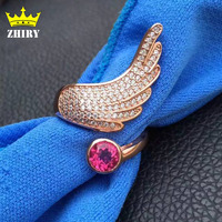 100 Natural Pink Topaz Ring Genuine Solid 925 Sterling Silver Woman Gem Rings White Gold Plated