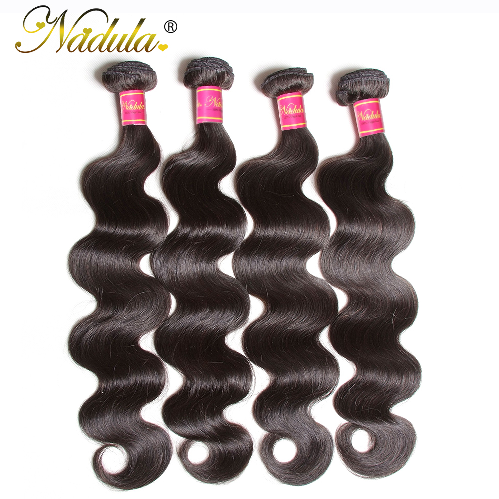 Nadula Hair Body Wave 4pcs Lot Brazilian Hair Weave Bundles 100 Human Hair Weaving 8 30