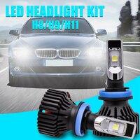 1 Pair H8 H9 H11 H16JP Led Headlight Kit External Lighting Fog Lights DRL Lamp CreeLed