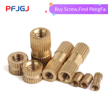 Peng Fa 10pcs GB809 Brass Roll Nut Embedded Copper Roll Nut Embedded Nut M4 External Diameter 5mm6mm nut m3x2 4 10pcs 1 n3024