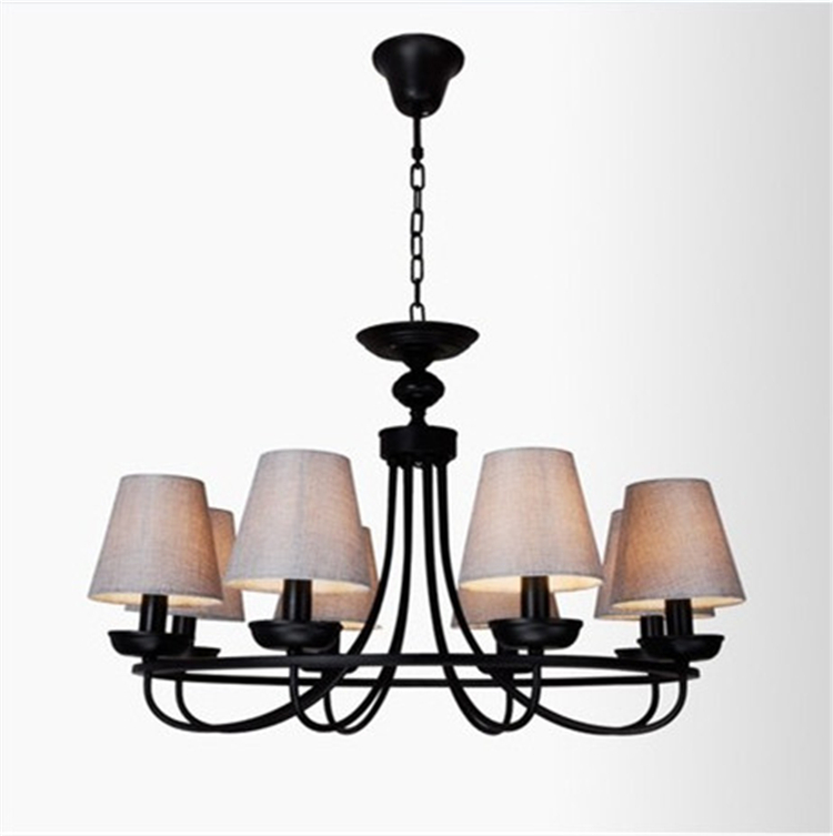 Simple Rustic Western Style Designer Nordic IKEA Living Room Dining Bedroom Chandelier Lighting Lamps Wrought Iron Proje In Chandeliers From Lights