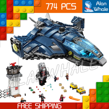 774pcs Super Heroes Captain America Civil War Airport Battle Iron Man DIY Model Building Blocks Toy Bricks Compatible With lego
