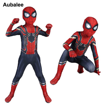 Iron Spiderman Costume Kids Boys Superhero Zentai Suit Spider man Homecoming Cosplay Child Halloween Costumes Party Outfit