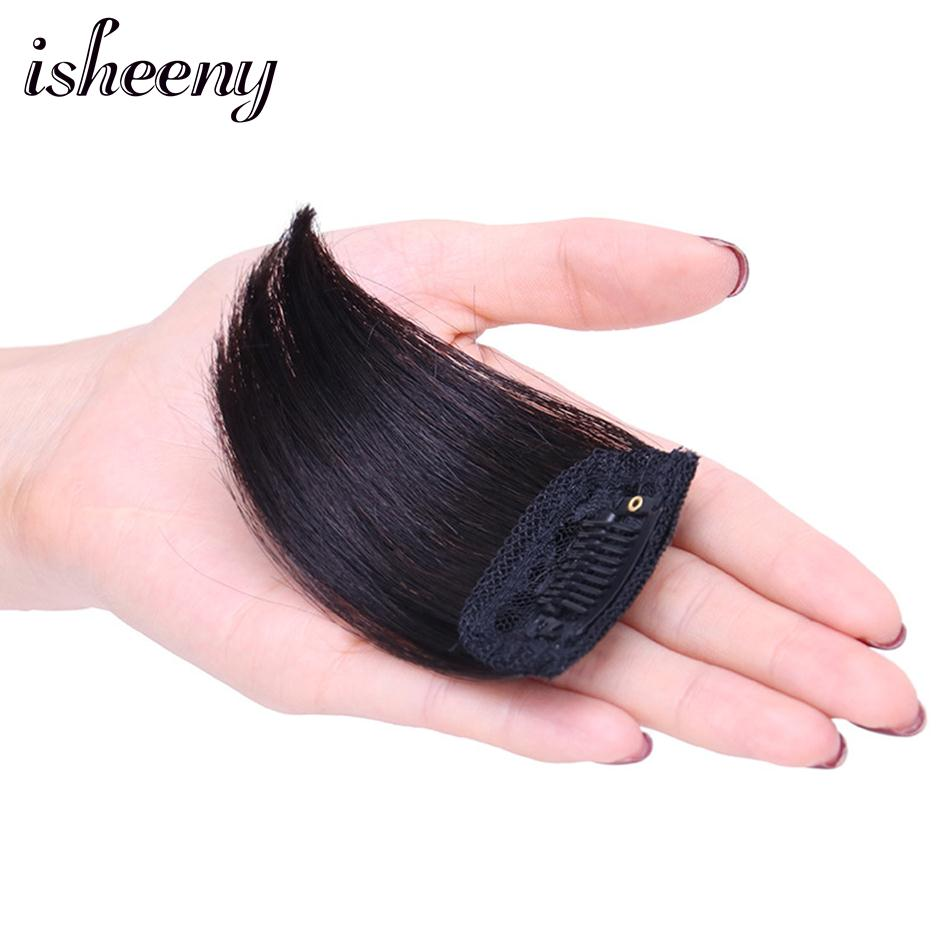 Isheeny Human Hair Piece Clip In Mini Thickened Remy Hair Pieces On Both Sides For Men And Women