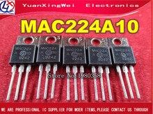 MAC224A10 على TO220 MAC224 224A10 5 قطعة/الوحدة