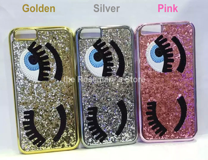 the best attitude 72c8e 0c3f4 US $38.0 |10pcs fashion MISS Gossip Chiara Ferragni Eyebrow Phone Case  Paillette blinking case for iPhone5 5s 3D Eye Case Cover Silver Red on ...