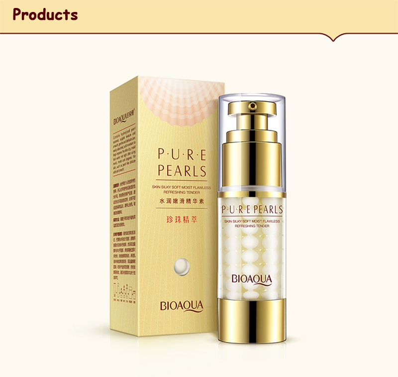 BIOAQUA Brand Pure Pearl Collagen Hyaluronic Acid Face Skin Care Moisturizing Hydrating Anti Wrinkle Anti Aging Essence Cream 17