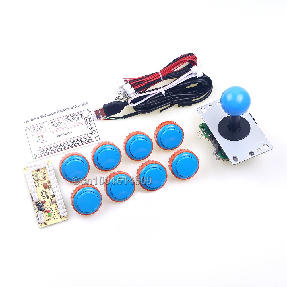 Arcade Sanwa Button OBSN-30 Buttons Wires + Arcade Stick Cable + USB Encoder Board To Coin Operated Game & PC Controller Games sanwa button and joystick use in video game console with multi games 520 in 1
