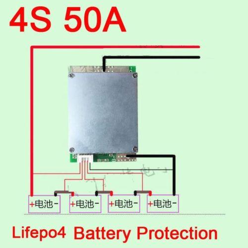 4 S 50A 12.8 V cellule Lifepo4 BMS Lithium fer phosphate batterie Protection carte PCB pour 3.2 v * 4 Pack avec équilibre