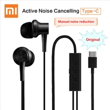 Xiaomi ANC Earphones Hybrid Type-C Mic Line Control Active Noise Cancelling USB-C for Xiaomi Mi6 MIX Note2 Mi 5s Plus Mi5 ANC