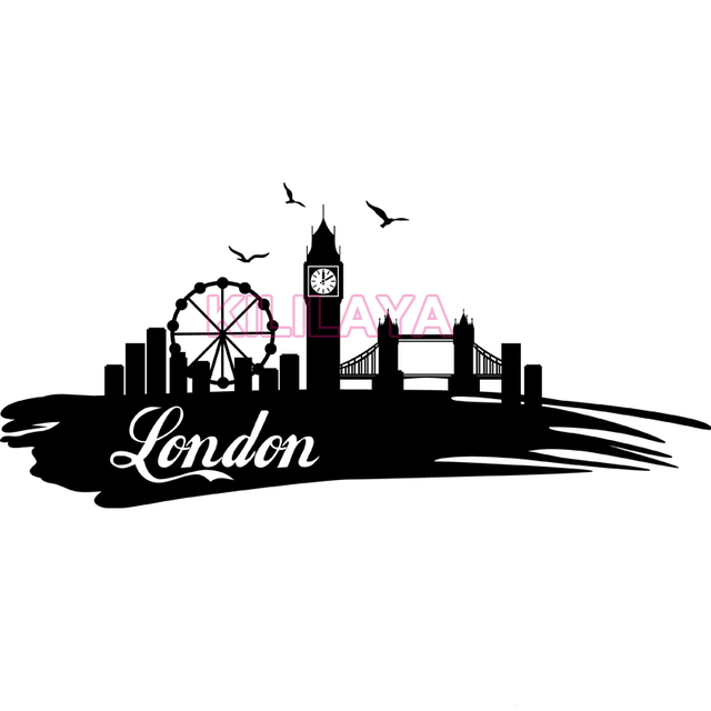 Sticker london eye and big ben travel vinyl wall stickers home decor wall decals art wallpaper