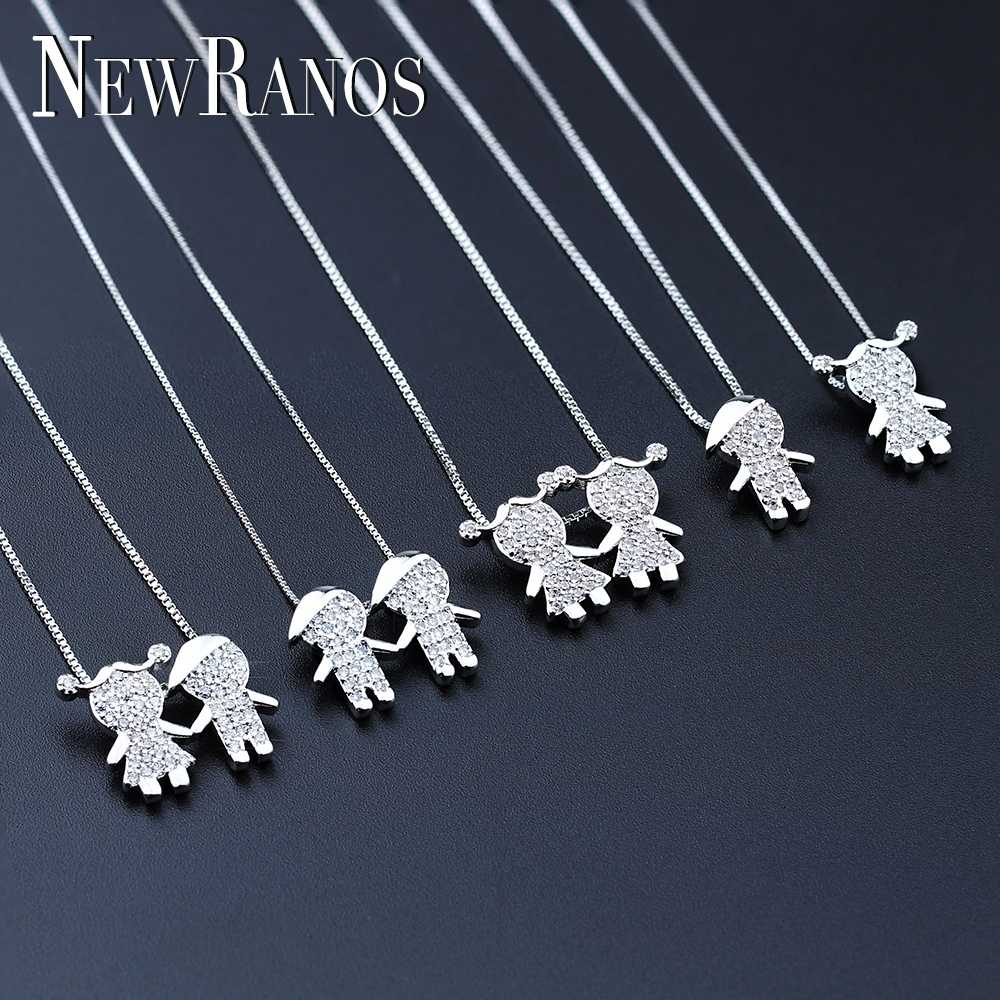 New Gift  New Design Boy and Girl Pendant Necklace Jewelry for Women Party Jewelry PGY046