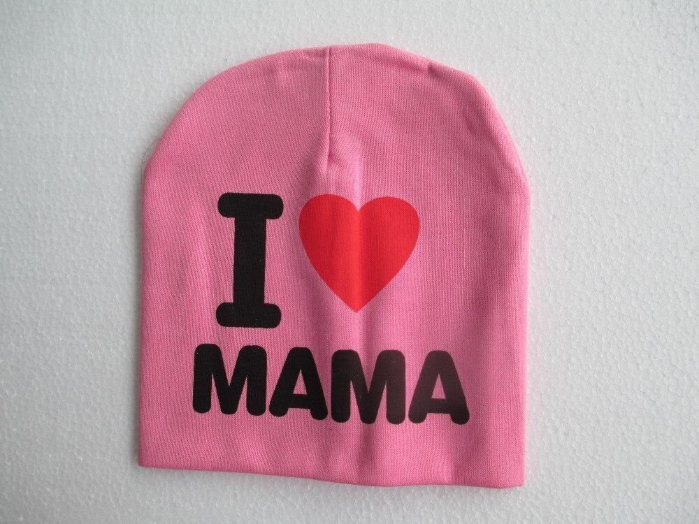 Новые прибытия Я люблю папу, я люблю маму, ребенка шляпу младенческой крышки Хлопка Шапочки для Новорожденных Hat Шапка Малышей Мальчики Дево...