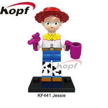 Single Sale Super Heroes Jessie Virtual Cowgirl Character Toy Story Cartoon Woodys Roundup Building Blocks Children Toys KF441