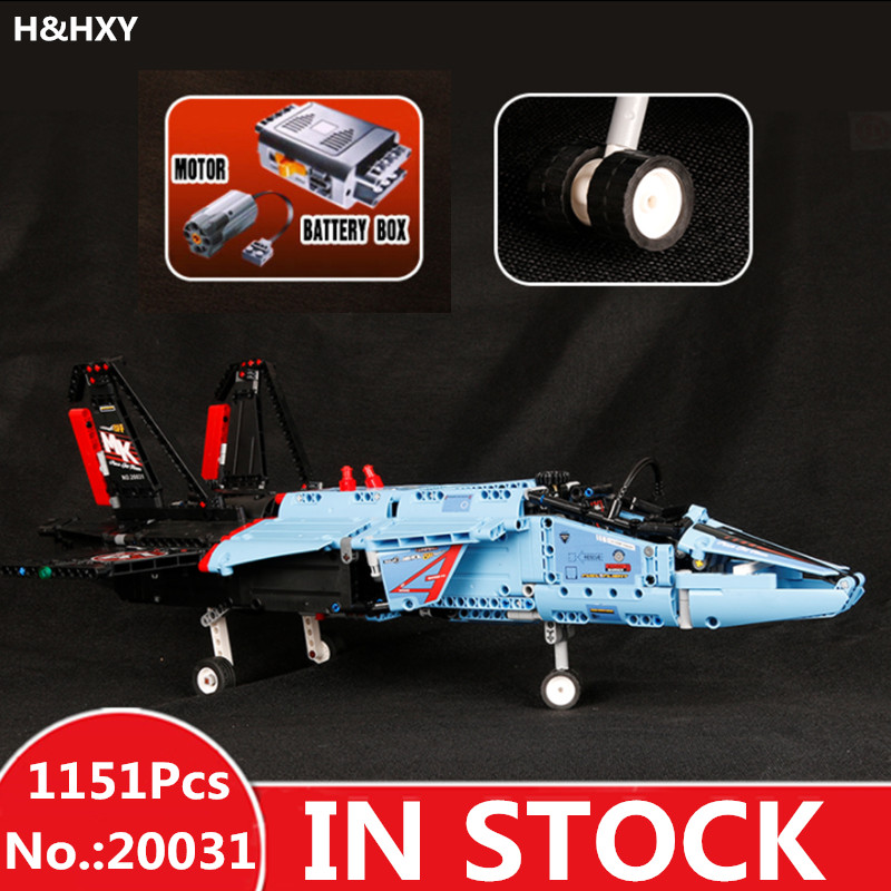 H&HXY Free Shipping 20031 1151pcs Technic Series The jet racing aircraft Model Building Kits Brick lepin Toys Compatible 42066 lepin legoing 42066 1151pcs technic series the air race jet model building blocks bricks gifts toys compatible 20031