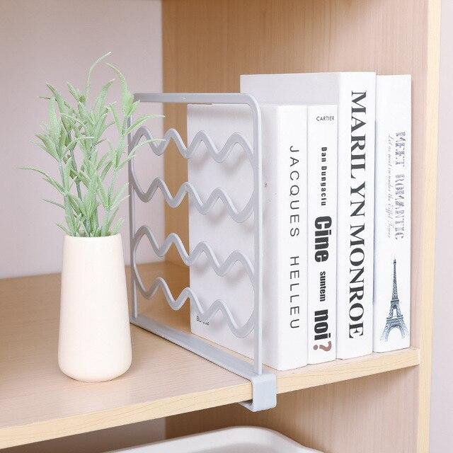 1Pcs Plastic Shelf Dividers Wardrobe Storage Layered Separator Plate Fender Closet Shelves For Box JJJSN11160