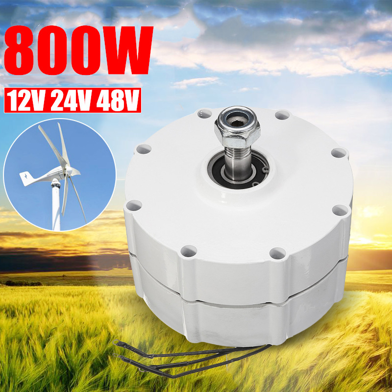 800 W 12 V 24 V 48 V aimant Permanent générateur moteur générateur de vent moteur pour éoliennes lame contrôleur 3 Phase courant PMSG