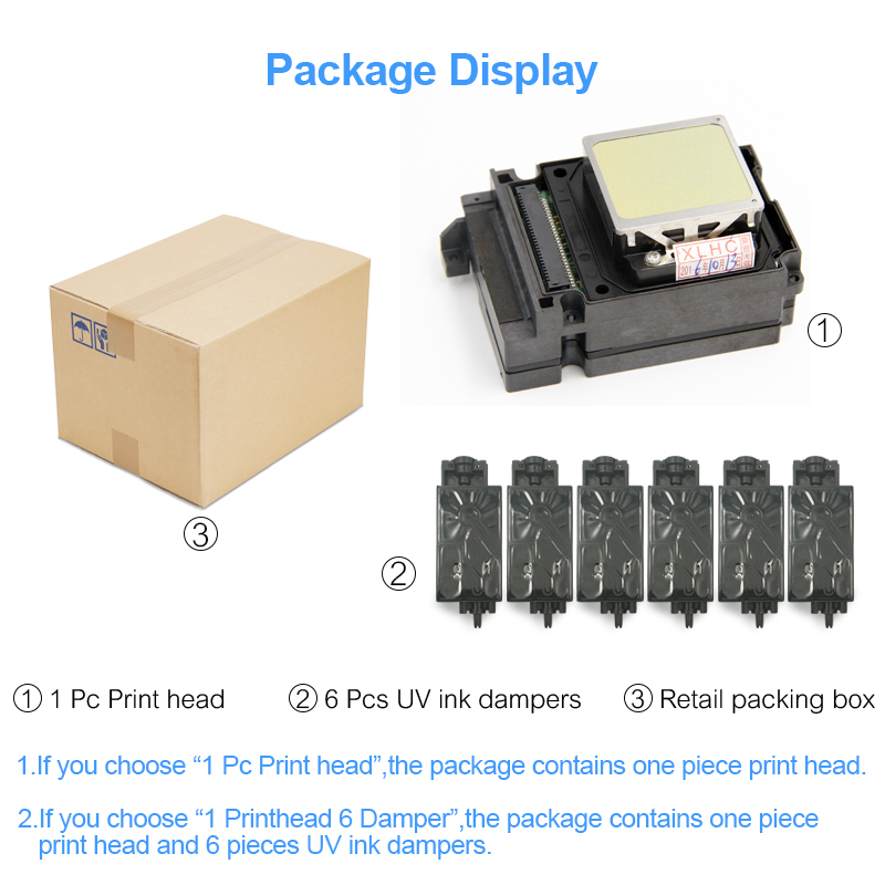 Image 5 - F192040 DX8 DX10 TX800 Print Head UV Printhead For Epson TX800 TX710W TX720 TX820 PX720DW PX730DW TX700W TX800FW PX700WD PX800FW-in Printer Parts from Computer & Office
