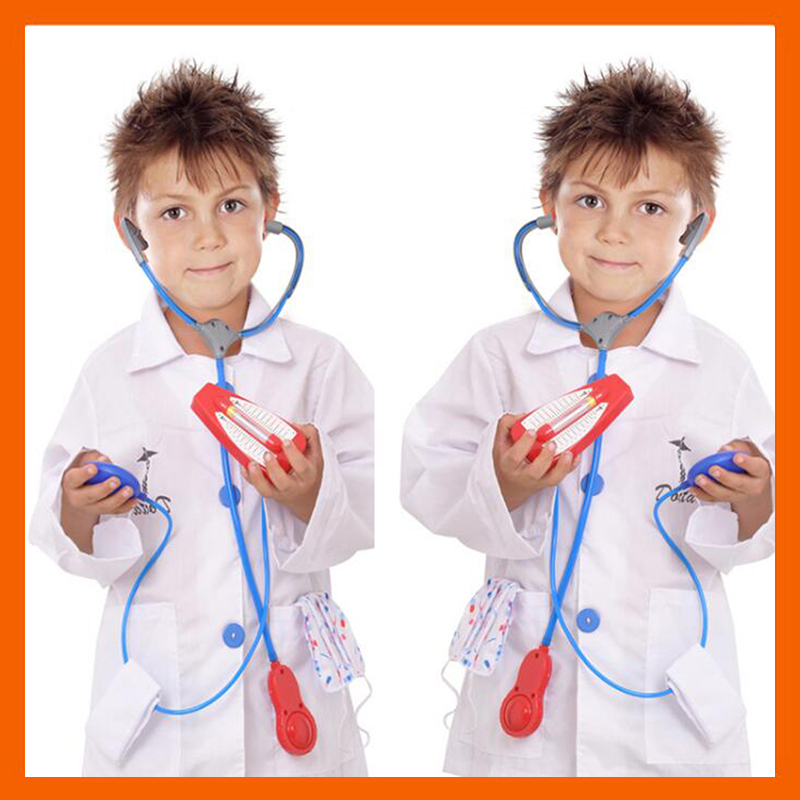 2017 CHILDREN HALLOWEEN COSPLAY COSTUME GIRLS BOYS PARTY COSPLAY CLOTHING KIDS DOCTOR COSTUME NURSE UNIFORM
