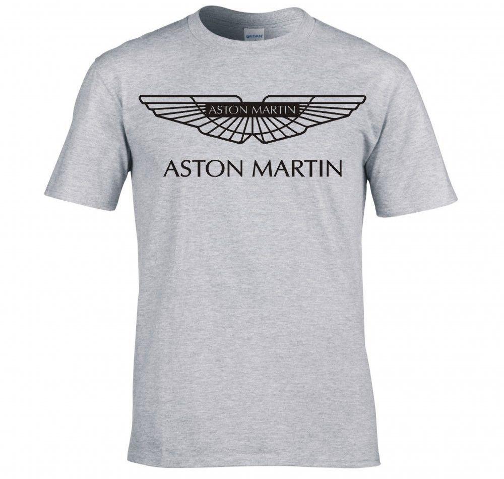 New Arrived Men T Shirt Aston Martin Vanquish Logo T Shirt Male Top - Aston martin shirt