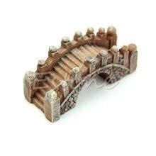 Mini Bridge Miniature Landscape Fairy Garden Terrarium Decor Tool Garden Crafts N24 Drop Ship