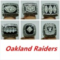 All 6 PCS rings Oakland Raiders Super Bowl Football Championship Ring , US Size 11 with jewelry case,Fan gift