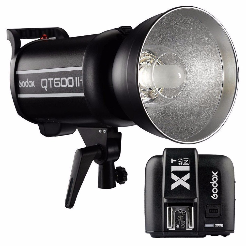 Godox QT-600II 600Ws QT-600IIM 220V 2.4G HSS Studio Flash Light + X1 Trigger for Canon Nikon SonyGodox QT-600II 600Ws QT-600IIM 220V 2.4G HSS Studio Flash Light + X1 Trigger for Canon Nikon Sony