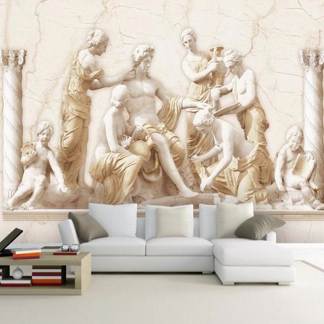 Nach 3D Wandbild Tapete Europäischen Stil Römischen Relief Kunst ...