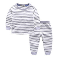 Top Baby Girls Boys Winter Pajamas Set Shirt Pants 2pcs Suit Children Long Johns Underwear Kids