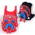 Nueva Lindo de la Alta Calidad del hombre araña 3D bolso de escuela del morral de los niños bolsas mochila infantil niños bolsas de viaje negro rojo