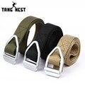 Tangnest cinturones 2017 equipo de rappel multifunción de cuero trenzado cinturón ceinture homme ceinture femme necesario masculino pyp097